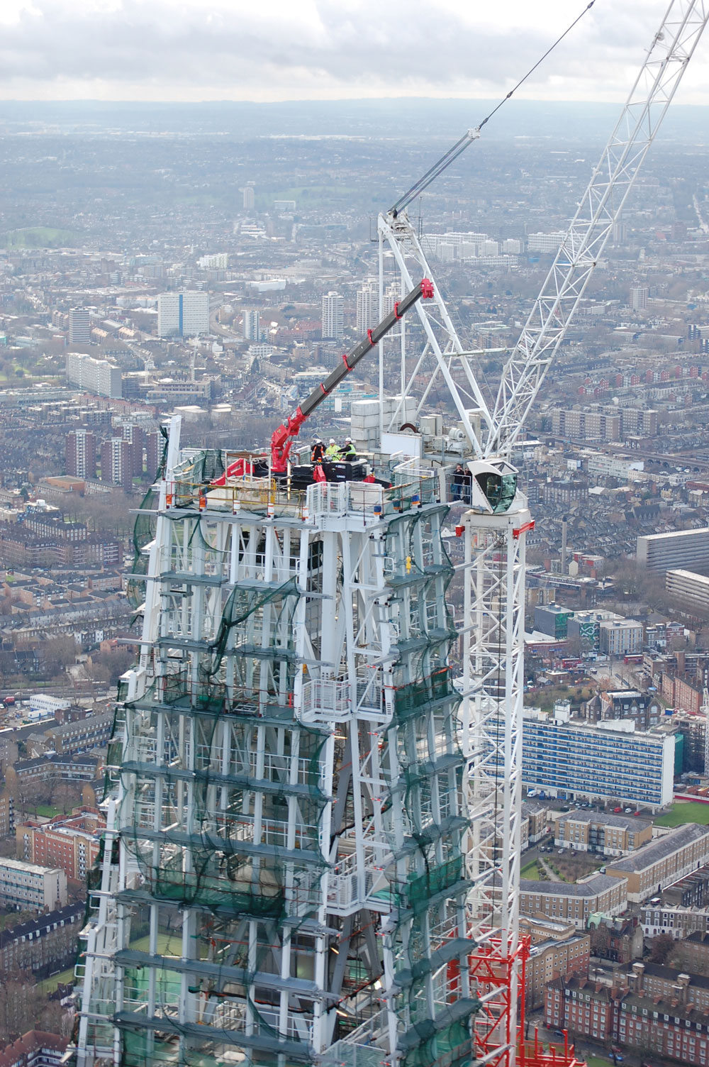 Unic Mini Crane At The Shard Features In Mail On Sunday