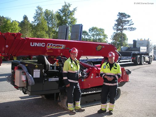 Norway's substations get some lifting power from UNIC cranes