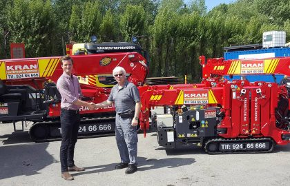 Company takes delivery of 4 UNIC cranes