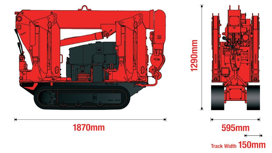 UNIC URW-094 Dimensions