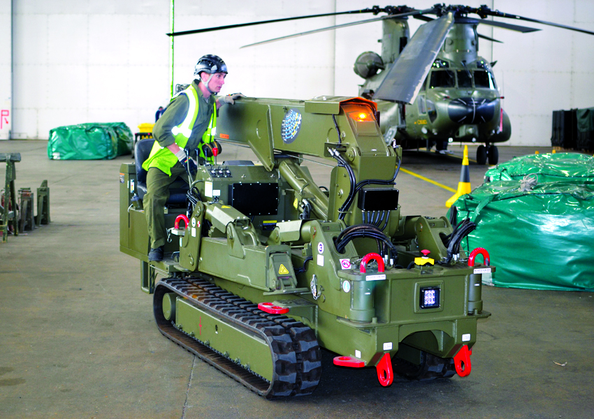 We regularly work with the MOD supplying our fast and compact mini cranes to aid them