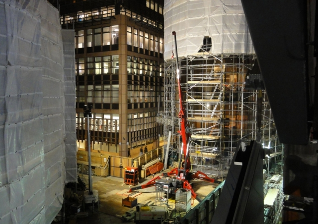 Our URW-1006 mini spider crane was perfect for heavy lifting in cramped Central London