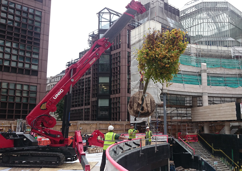 This URW-1006 helped install a very large tree in London