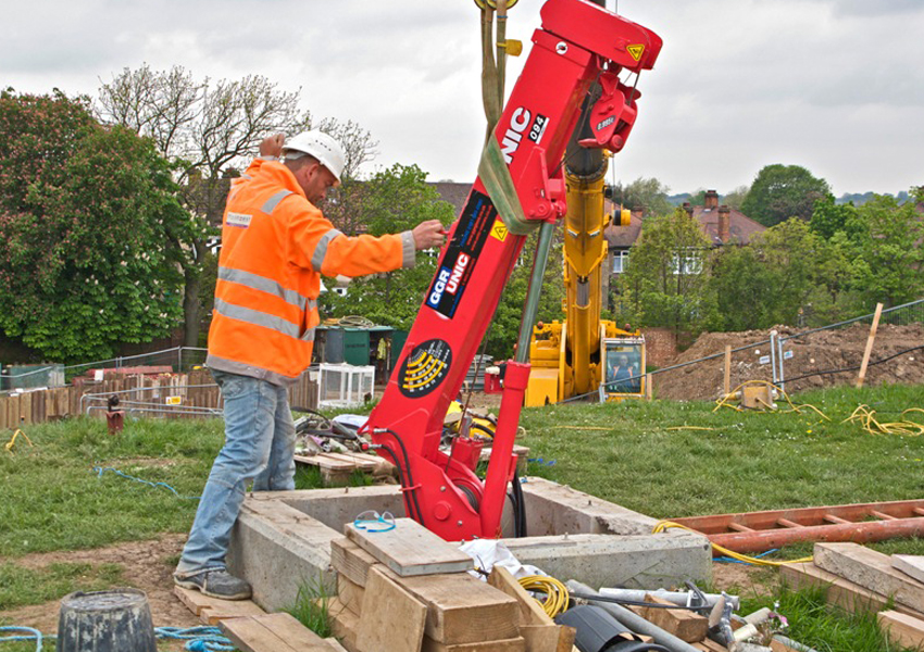UNIC Mini Cranes can be disassembled and transported to very hard to reach areas then built up again