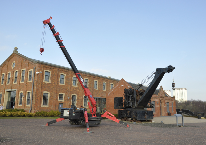 This URW-376 next to a vintage crane shows just how far technology has come