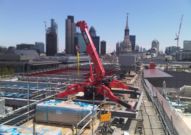 A URW-706 had a great view of London from the rooftop of One New Change