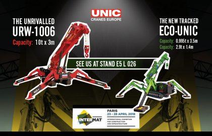 UNIC Cranes at Intermat