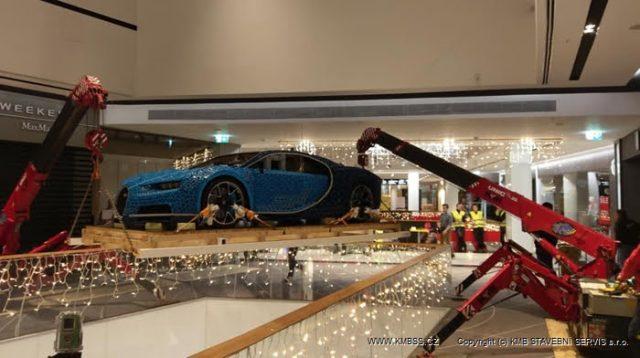 Two UNIC Mini Cranes Lift Lego Bugatti